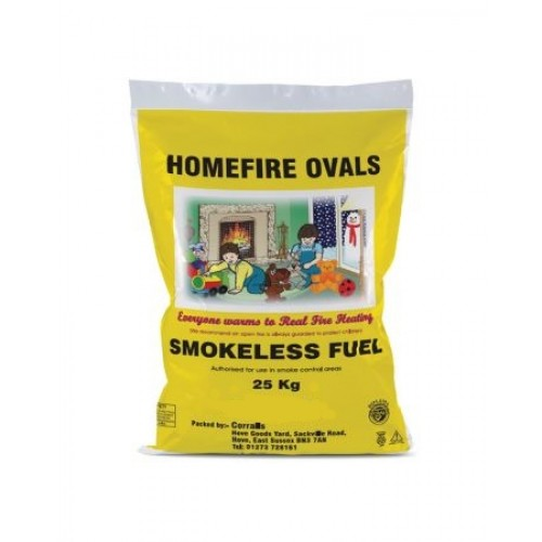 Homefire Ovals Smokeless Coal 20kg - btsbm.co.uk