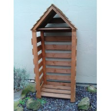 Slim Log Store with Apex Roof - Fully Stocked