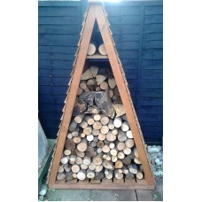 Triangular Log Store - Fully Stocked